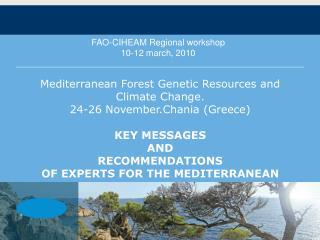 FAO-CIHEAM Regional workshop 10-12 march, 2010