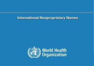 International Nonproprietary Names