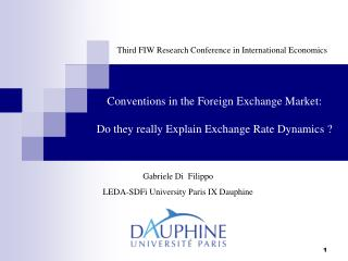 Conventions in the Foreign Exchange Market: Do they really Explain Exchange Rate Dynamics ?