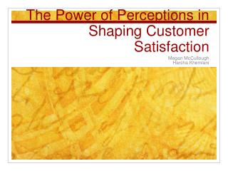 The Power of Perceptions in Shaping Customer Satisfaction