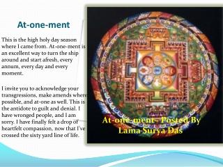 At-one-ment - Lama Surya Das Scandal