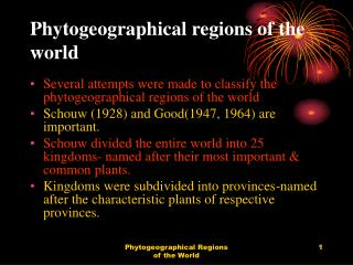 Phytogeographical regions of the world
