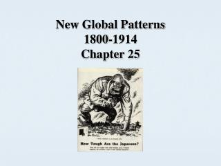 New Global Patterns 1800-1914 Chapter 25