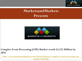 Complex Event Processing (CEP) Market worth $3,322 Million b