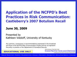Communication challenges during food recalls