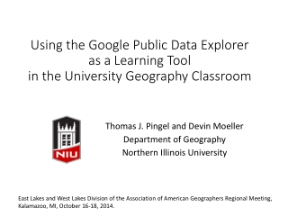 Using the Google Public Data Explorer as a Learning Tool in the University Geography Classroom
