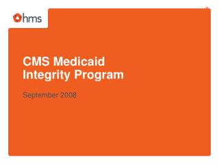 CMS Medicaid Integrity Program