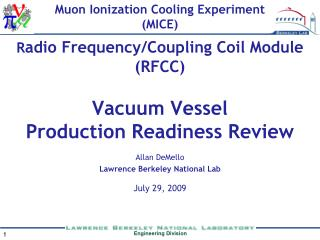 Vacuum Vessel  Production Readiness Review