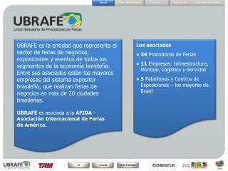 Los asociados ●34 Promotoras de Ferias ● 11 Empresas: Infraestructura, Montaje, Logística y Servicios
