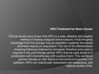 hifu treatment for bone cancer