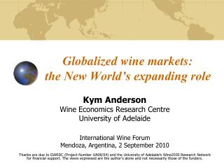 Globalized wine markets:  the New World's expanding role