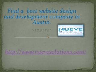Find a best website design and development company in Austin
