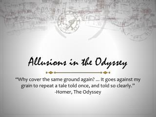 Allusions in the Odyssey