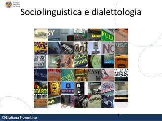 Sociolinguistica e dialettologia