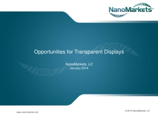 Opportunities For Transparent Displays
