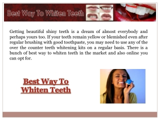 Best Way To Whiten Teeth At Home