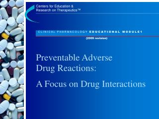 Preventable Adverse Drug Reactions