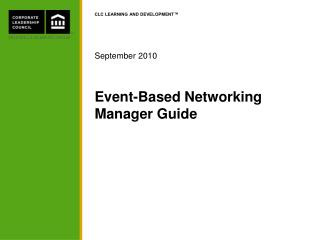 Event-Based Networking Manager Guide