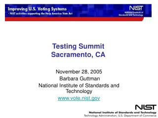 Testing Summit Sacramento, CA