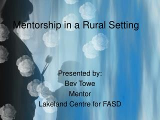 Mentorship in a Rural Setting