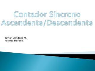 Contador Síncrono Ascendente/Descendente