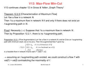V13: Max-Flow Min-Cut