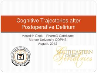 Cognitive Trajectories after Postoperative Delirium