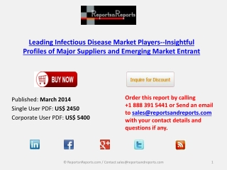 Leading Infectious Disease Industrial Overview 2014