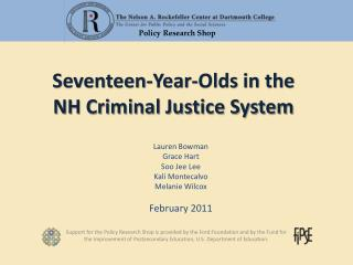 Seventeen-Year-Olds in the  NH Criminal Justice System