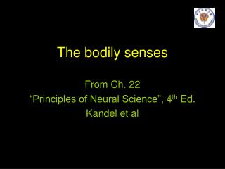 The bodily senses