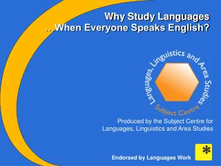 Why Study Languages