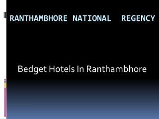 hotels in ramthanbhore