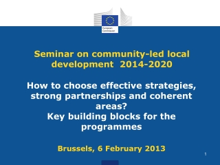 Seminar on community-led local development  2014-2020