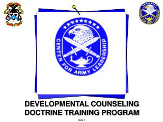 DEVELOPMENTAL COUNSELING  DOCTRINE TRAINING PROGRAM