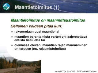 Maantietoimitus (1)