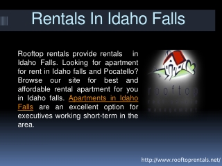 Rentals in idaho falls