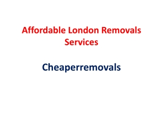 Best Removals London