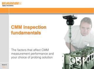 CMM inspection fundamentals