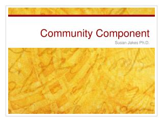 Community Component