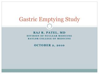 Gastric Emptying Study