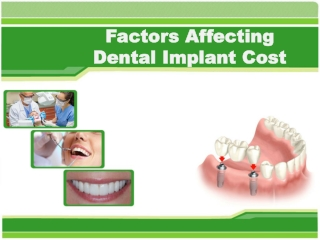 Factors Affecting Dental Implant Cost in Vancouver BC