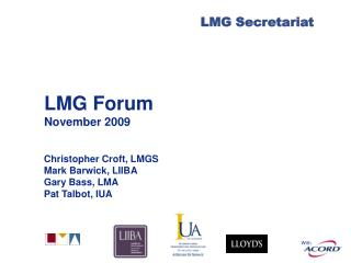 LMG Forum November 2009