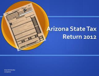 Arizona State Tax Return 2012