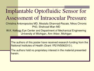Implantable Optofluidic Sensor for Assessment of Intraocular Pressure