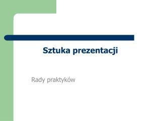 Sztuka prezentacji