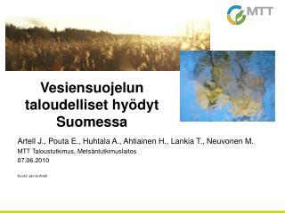 Vesiensuojelun taloudelliset hyödyt Suomessa