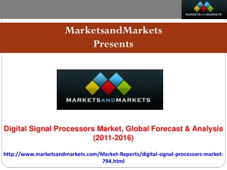 Global Digital Signal Processors [DSP] Market Forecast