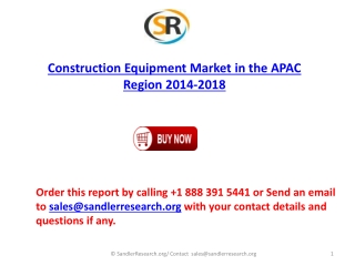 Construction Equipment Market 2018 Forecast in Research Repo