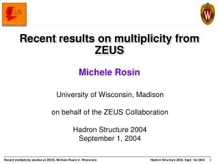 Recent results on multiplicity from ZEUS