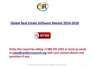 Global Real Estate Software Market Dominated by Accruent Inc